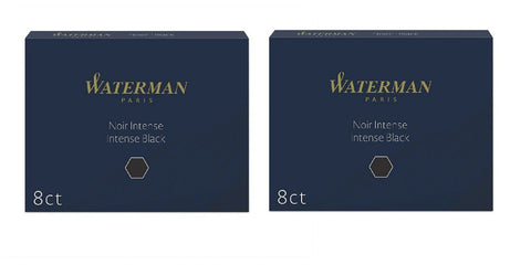 Waterman - Large Size Standard Ink Cartridges - 2 x Box of 8