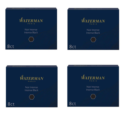 Waterman - Large Size Standard Ink Cartridges - 4 x Box of 8