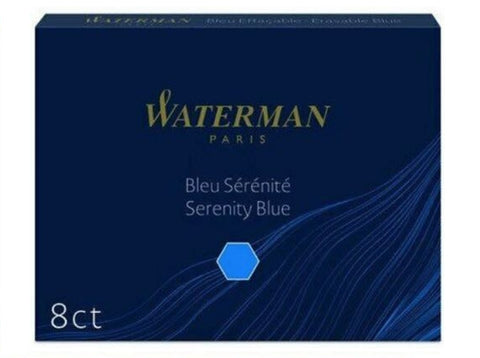 Waterman - Large Size Standard Cartridges - Box of 8
