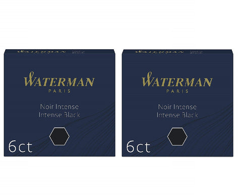 Waterman - Short Size International Cartridges - 2 x Box of 6