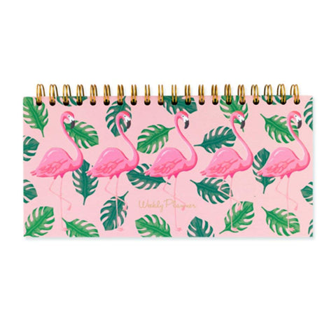 Go Stationery Flamingo Weekly Desk Planner