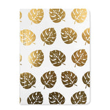 Go Stationery A6 Tropical Leaf Notebook, Extra Chunky | Golf Foil Palm Leaves