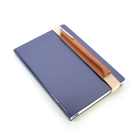 Creoly Genuine Tan Leather Pen Holder