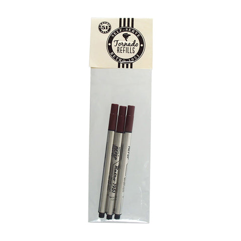 Retro 1951 Retro51 Tornado Roller Ball Ink 3 pack of Refills