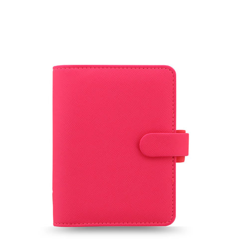 Filofax Saffiano Fluoro Pocket Organiser, Pink | New 2018 Colour!