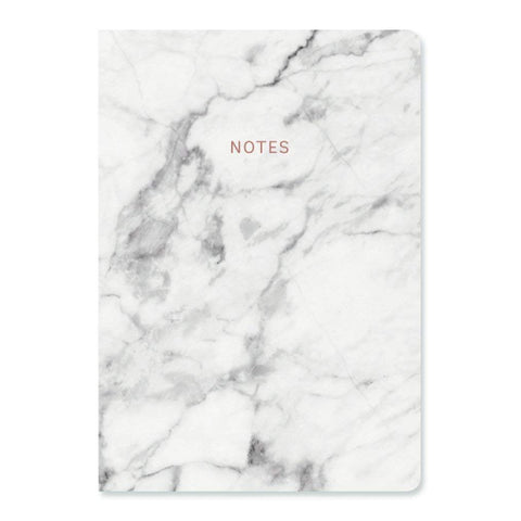 Go Stationery Luxury A5 Notebook | White Marble