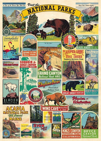 Cavallini - National Parks - Wrapping Paper / Poster