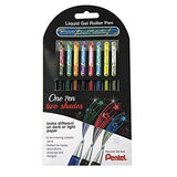 Pentel - Hybrid Dual Metallic Gel Rollers - 1.00mm - Set of 8 - Assorted Colours