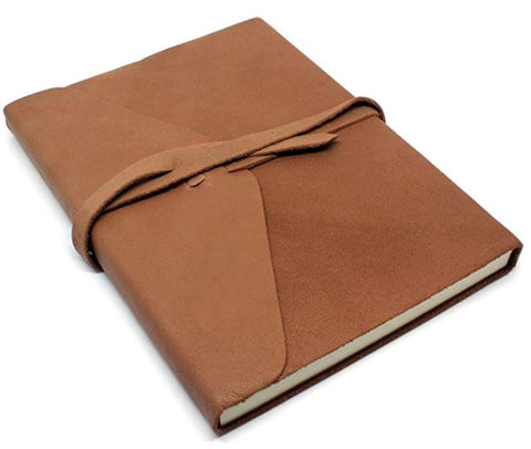 Classic Brown Buff Leather Journal by Fortessa