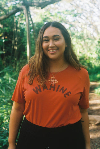 Dolkii | Tee Wahine in Lehua Red | Meet Zabrina Zablan of The Gay Agenda Collective!