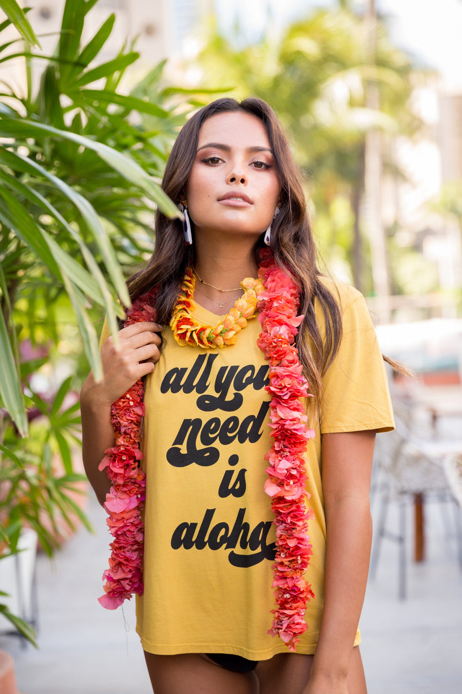 TEE ALL YOU NEED IS ALOHA - PINEAPPLE