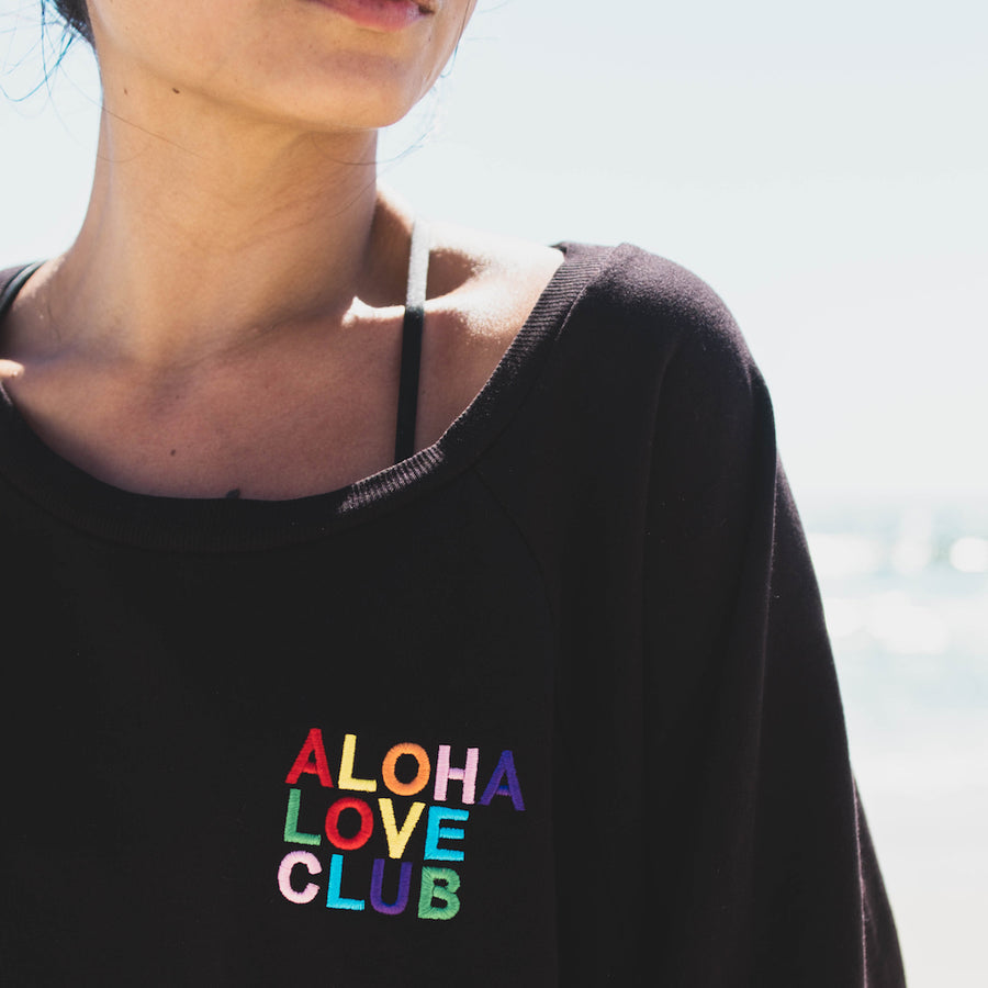 PULLOVER ALOHA LOVE CLUB - LAVA BLACK