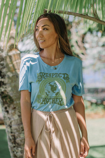 TEE RESPECT YOUR MOTHER - TIDEPOOL BLUE