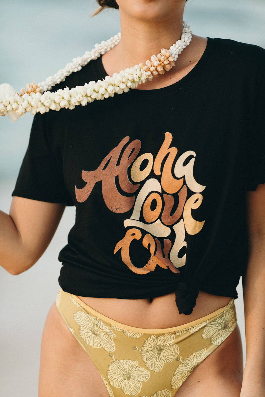 TEE ALOHA LOVE CLUB '19 - LAVA BLACK