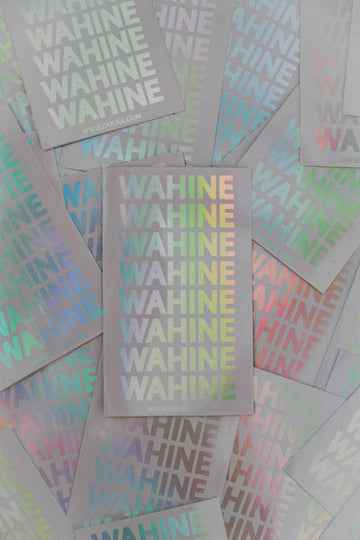 WAHINE HOLOGRAPHIC STICKER PACK (5 STICKERS)