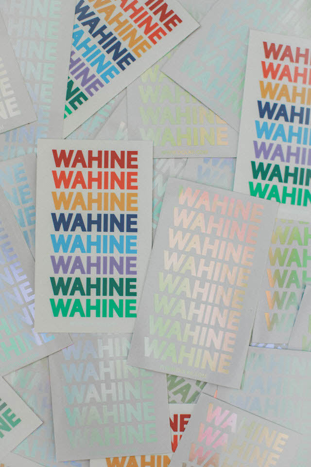 WAHINE STICKER PACK MIXED (5 STICKERS)
