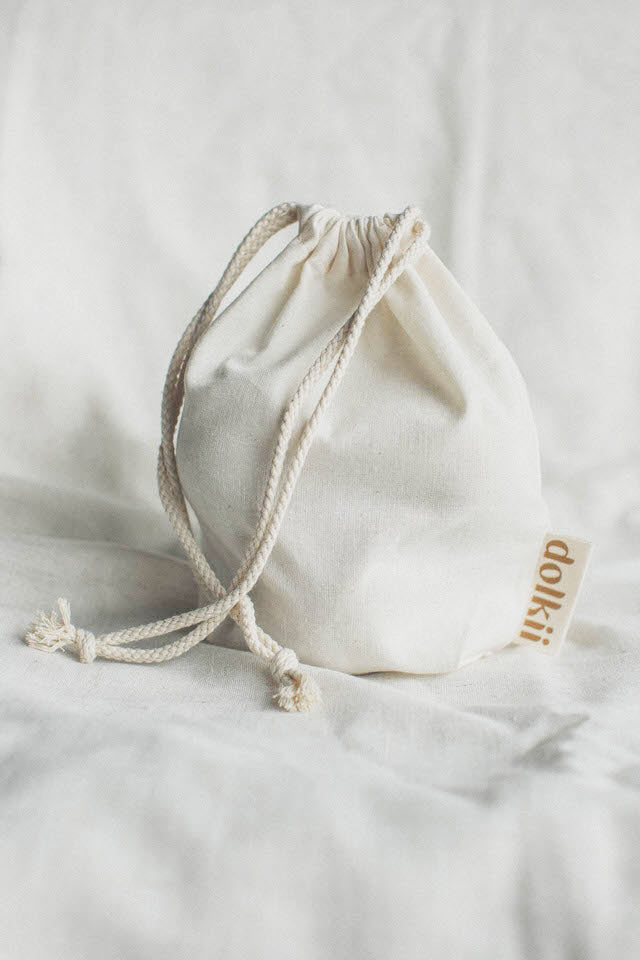 DOLKII X ECOMAMA MADE REUSEABLE DRAWSTRING POUCH