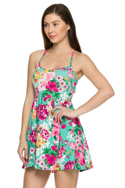 Floral printed summer dress (Mint) - Fierce Berry - Dress - 2NE1 - 4