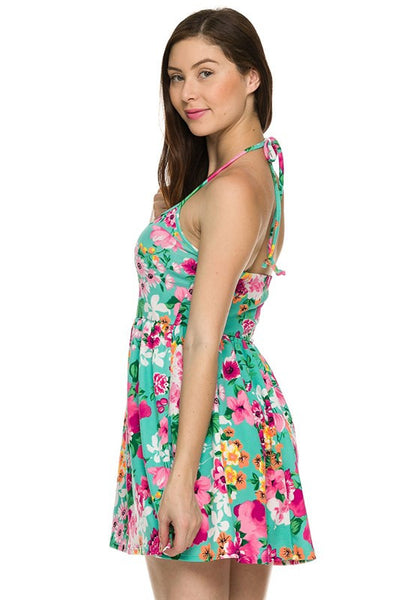 Floral printed summer dress (Mint) - Fierce Berry - Dress - 2NE1 - 7