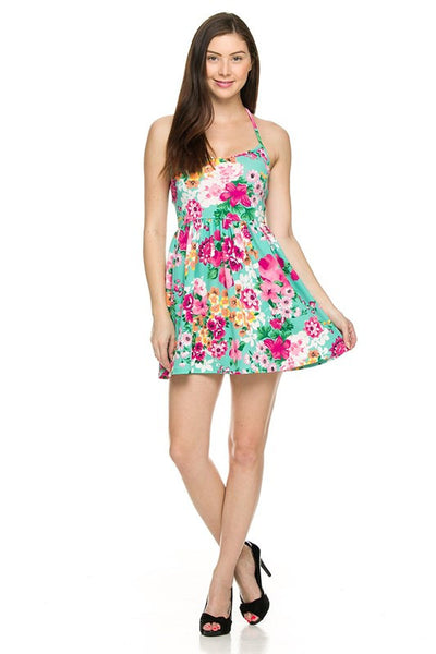 Floral printed summer dress (Mint) - Fierce Berry - Dress - 2NE1 - 8