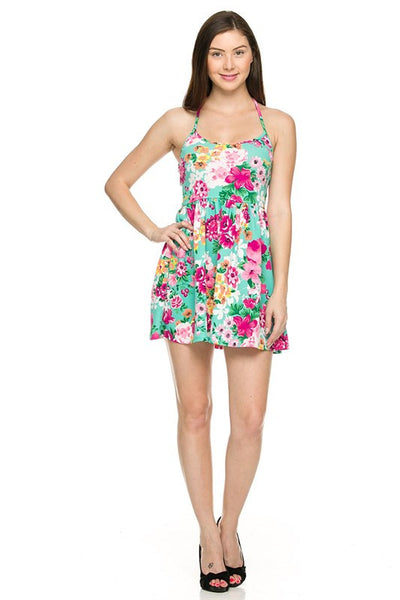 Floral printed summer dress (Mint) - Fierce Berry - Dress - 2NE1 - 9