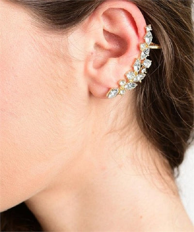 Crystal Reef Ear Cuffs Earrings - Fierce Berry - earring - Fierce Berry - 1