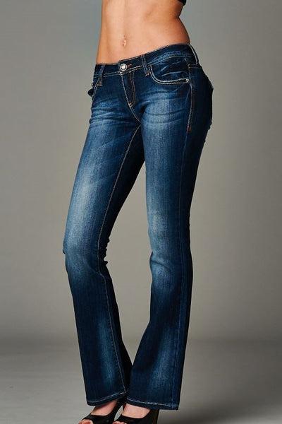 Cello Dark blue bootcut jeans - Fierce Berry - jeans - Cello - 3