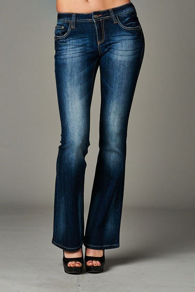 Cello Dark blue bootcut jeans - Fierce Berry - jeans - Cello - 2