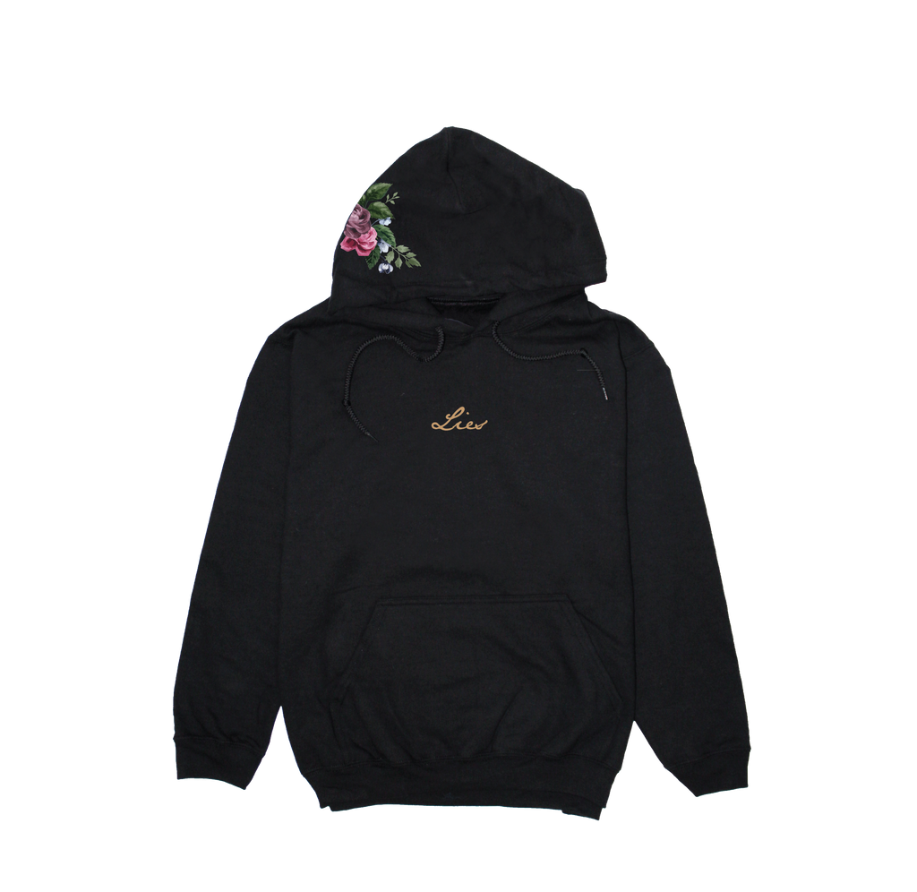 Rose On Hoodie - Hoodies
