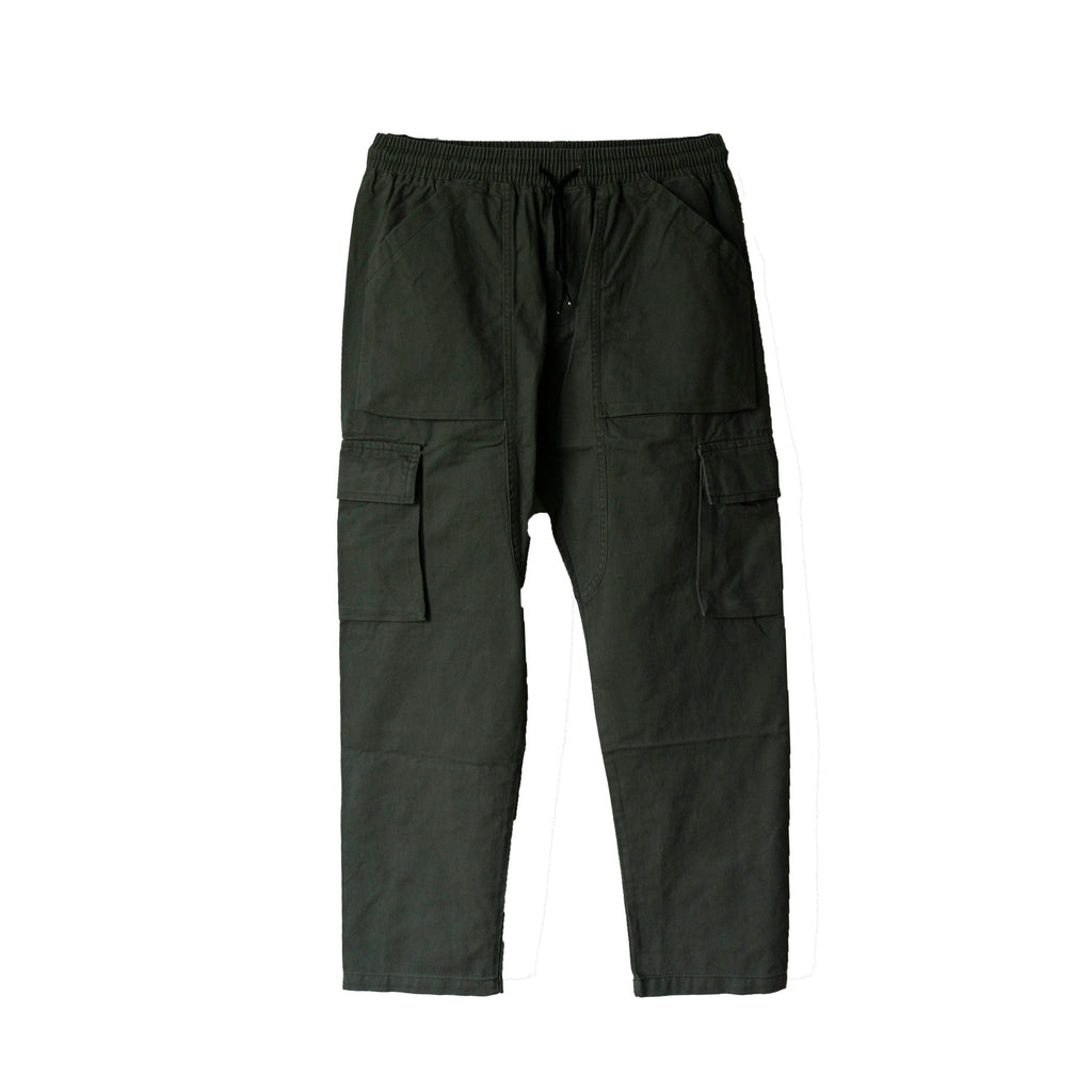 Cargo Ash Green Long Pockets Pants