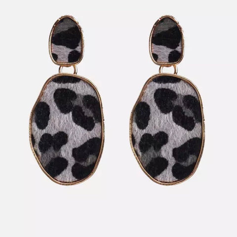 Leopard Pony Skin Small Earrings