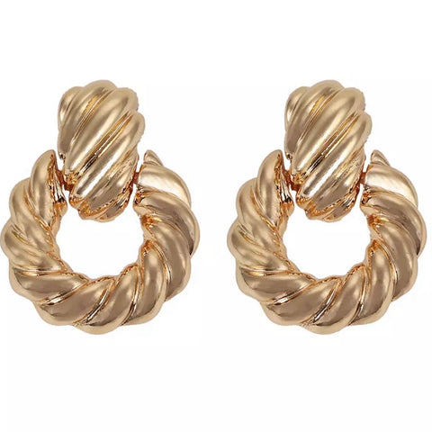 Gold Knotted Hoop Earrings