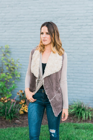 Faux-Fur Sueded Vest