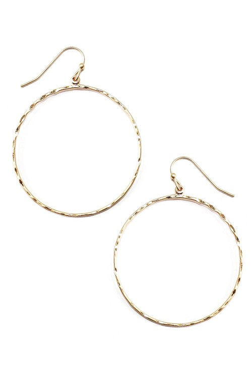 Round Delicate Earrings-Gold