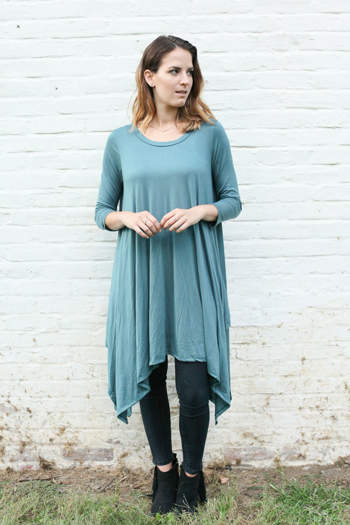 Teal Tunic Top