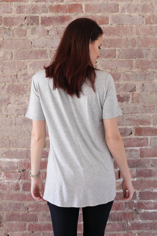 Grey Slouchy Pocket Tshirt