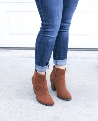 Sueded Ankle Boots