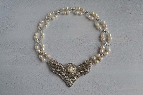 Statement Pearl Bridal Necklace