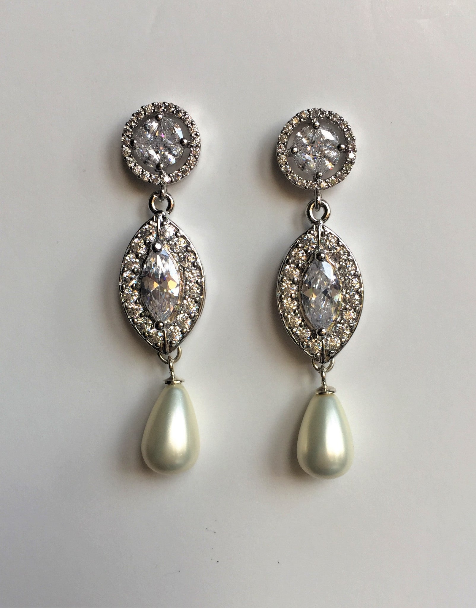 Sparkling Marquis Bridal Earrings