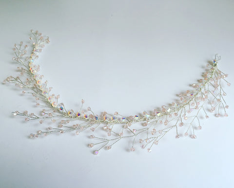 Elderflower hair vine crown