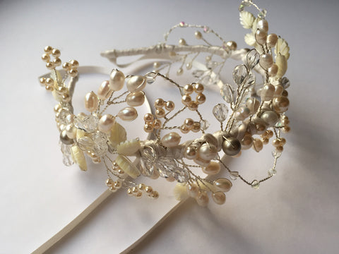 Ivory meadow headdress