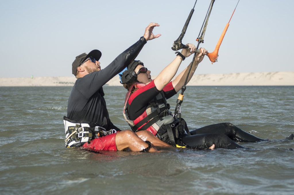 What will I learn in a beginners kiteboarding class?