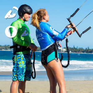Why should your kite leash be attached to the front part of the harness? - Sealand Adventure Sports