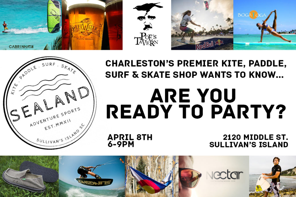 Grand Opening Party for Charleston's premier kite, paddle, surf, and skate shop
