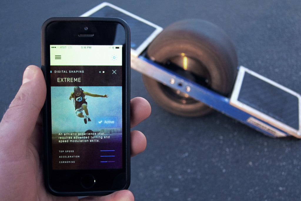 Onewheel: Download the Onewheel companion app to customize riding types
