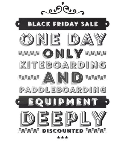 Black Friday kiteboarding and paddleboarding deals