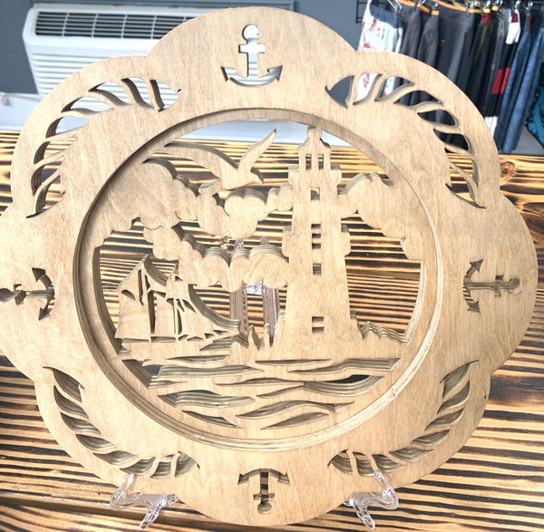 Custom Light House Wood Carving