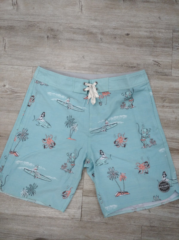 Sealand Mens Boardshorts - Light Blue - Sealand Adventure Sports