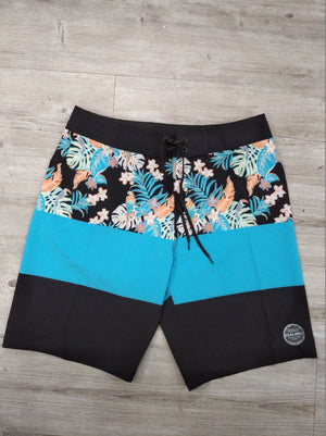 Sealand Mens Boardshorts - Tropical/ blk/ aqua - Sealand Adventure Sports