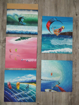 Kiteboarding / Kitesurf - Paintings / Prints / Magnets